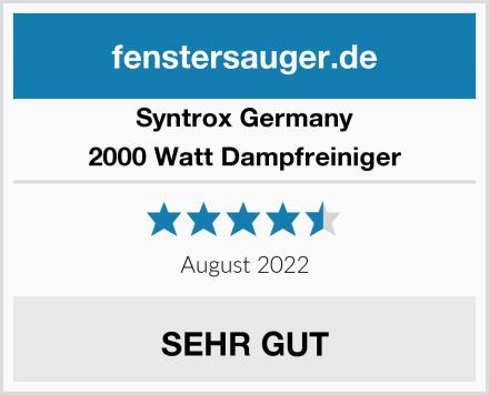 Syntrox Germany 2000 Watt Dampfreiniger Test