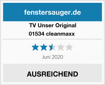 TV Unser Original 01534 cleanmaxx  Test