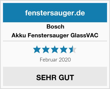 Bosch Akku Fenstersauger GlassVAC Test