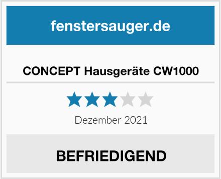 CONCEPT Hausgeräte CW1000 Test