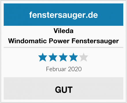 Vileda Windomatic Power Fenstersauger Test
